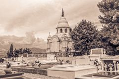 Supetar old cemetery Stock Photo