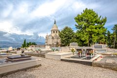 Supetar old cemetery Royalty Free Stock Photography