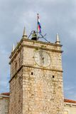 Supetar old clock tower Stock Photo