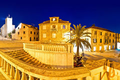 Supetar old stone square evening view Royalty Free Stock Image