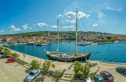 Supetar port Obraz Royalty Free