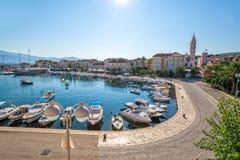 Supetar sull'isola Brac in Croazia Fotografie Stock
