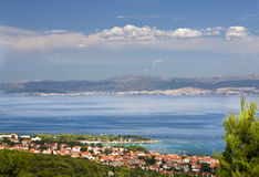 Supetar town on BRAC ISLAND Stock Photography