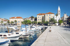 Supetar town, Brac island, Croatia Stock Photo