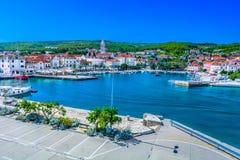 Supetar town on Island Brac, Croatia. Scenic view at Supetar town on Island Brac, Croatia Mediterranean stock photography