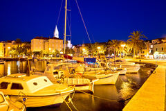 Supetar waterfront evening view Stock Photo