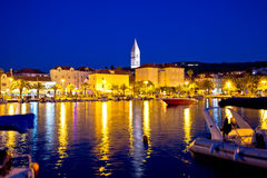 Supetar waterfront evening view from sea Royalty Free Stock Images