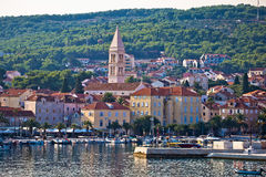 Supetar waterfront view from sea. Island of Brac, Dalmatia, Croatia Stock Images