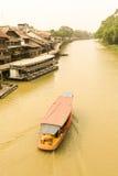 Suphan Buri, Thailand, im März 2015: Bootsausflug im Suphan Buri Stockfoto