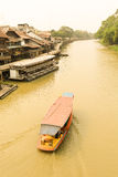 Suphan Buri, Thailand, March 2015 : Boat tour in the Suphan Buri stock photo