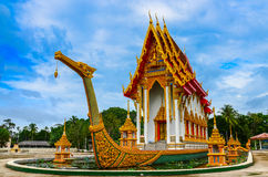 Suphannahong Buddhist temple Stock Image