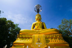 The Suphatthara Bophit Buddha at Khao Kradong Forest Park in Bur Stock Photos