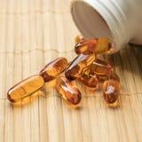 Suplemento dietético, óleo de peixes, MEGA-3 Imagem de Stock