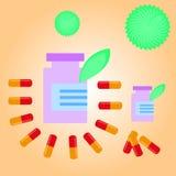 Suplemento dietético ilustração stock