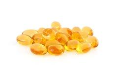 Suplementos à vitamina E fotografia de stock