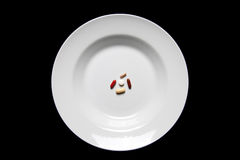 Suplementos ao alimento do serviço isolados Imagem de Stock