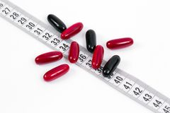 Suplementos ao alimento para uma dieta healty Imagem de Stock