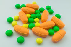 Suplementos de las vitaminas, primer fotografía de archivo libre de regalías