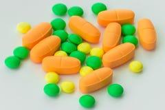 Suplementos de las vitaminas, primer imagen de archivo libre de regalías