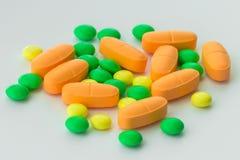 Suplementos de las vitaminas, primer fotos de archivo libres de regalías