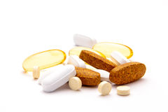 Suplementos dietéticos Imagens de Stock Royalty Free