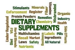 Suplementos dietéticos Imagem de Stock Royalty Free