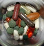 Suplementos sanos del alimento Foto de archivo libre de regalías