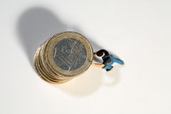 Suportando o euro Imagem de Stock