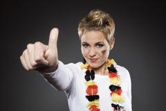 Suporte Alemanha do aficionado desportivo do futebol Imagem de Stock Royalty Free