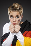 Suporte Alemanha do aficionado desportivo do futebol Imagem de Stock
