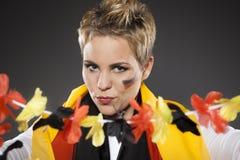 Suporte Alemanha do aficionado desportivo do futebol Fotografia de Stock
