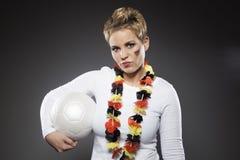 Suporte Alemanha do aficionado desportivo do futebol Imagens de Stock Royalty Free