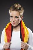 Suporte Alemanha do aficionado desportivo do futebol Fotos de Stock Royalty Free