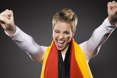 Suporte Alemanha do aficionado desportivo do futebol Fotos de Stock
