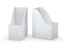 Suporte branco do arquivo da placa da curva com trajeto de grampeamento ilustração do vetor
