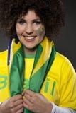 Suporte Brasil do aficionado desportivo do futebol Imagens de Stock Royalty Free