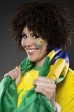Suporte Brasil do aficionado desportivo do futebol Imagens de Stock
