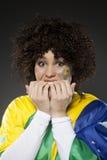 Suporte Brasil do aficionado desportivo do futebol Imagem de Stock Royalty Free