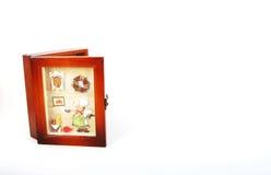 Suporte chave de madeira com quadro Imagens de Stock