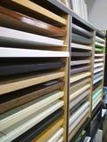 suporte com fachadas da cozinha Foto de Stock
