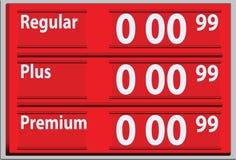 Suporte com preços da gasolina Foto de Stock Royalty Free