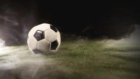 Suporte da bola na grama em torno do fumo video estoque