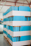 Suporte da documentação com caixas Imagens de Stock