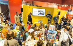 Suporte da exposição na feira de livro 2014 de Francoforte Fotos de Stock