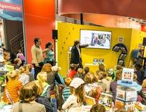 Suporte da exposição na feira de livro 2014 de Francoforte Foto de Stock