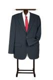 Suporte de Butler Coat Suit Garment da lavadeira da roupa com terno de negócio imagens de stock