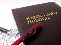 Suporte de cartão do nome do negócio Fotografia de Stock Royalty Free