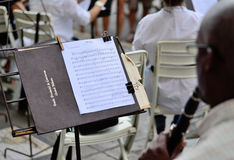 Suporte de música com notas Foto de Stock