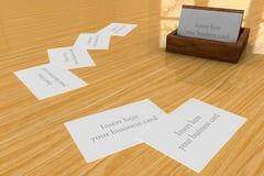 Suporte de madeira dos cartões Foto de Stock