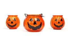 Suporte de vela de Halloween Fotografia de Stock